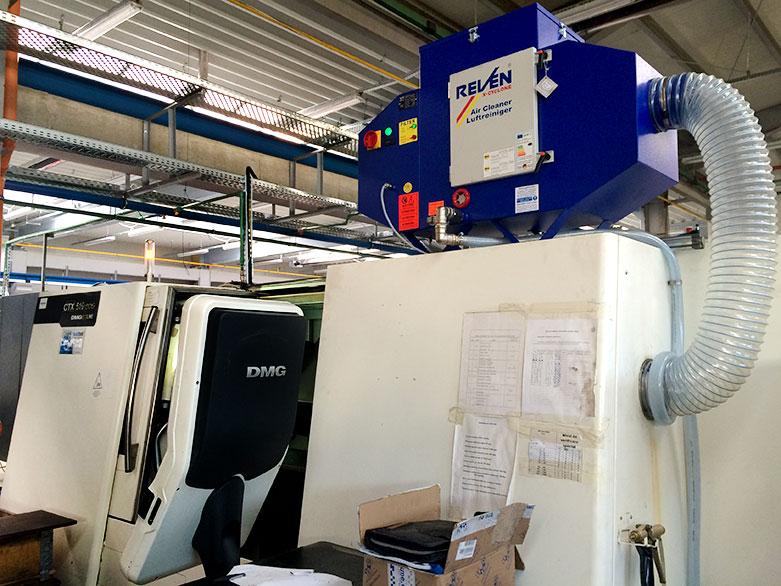 Filtrare vapori ulei din masini CNC DMG