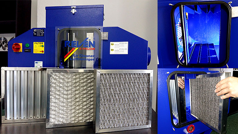 Constructie modulara echipamente filtrare vapori ulei