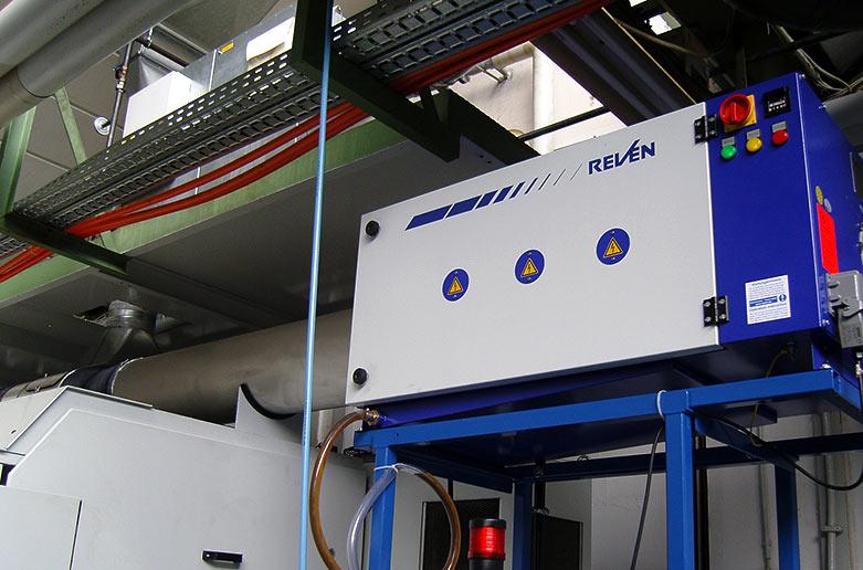 Filtrare electrostatica vapori ulei CNC