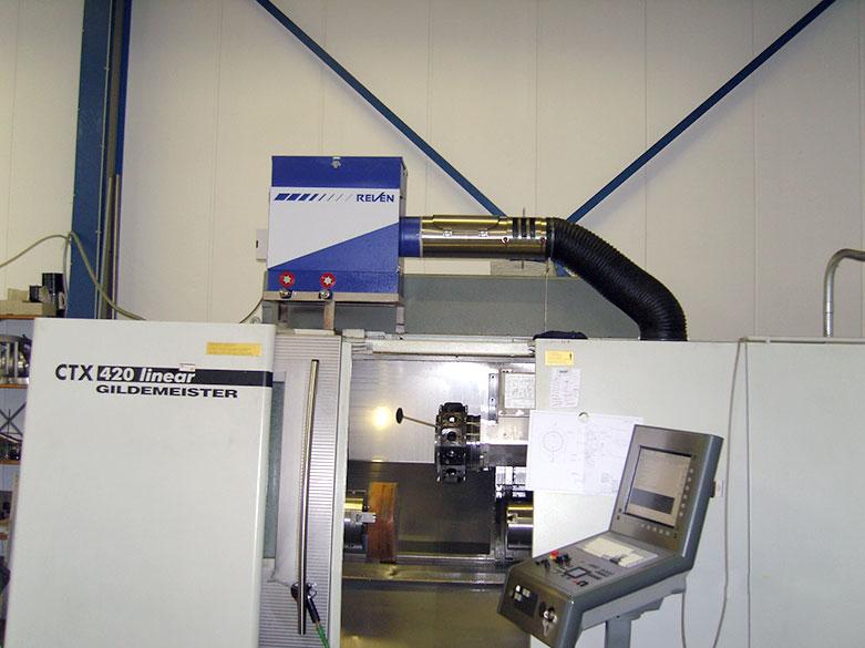 Filtrare vapori ulei masini unelte CNC Mori Seiki