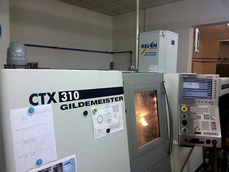 Echipament filtrare vapori ulei strung cnc ctx gildemeister