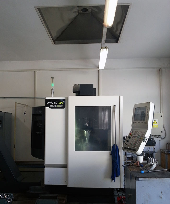 Filtrare vapori ulei freza CNC DMU 50