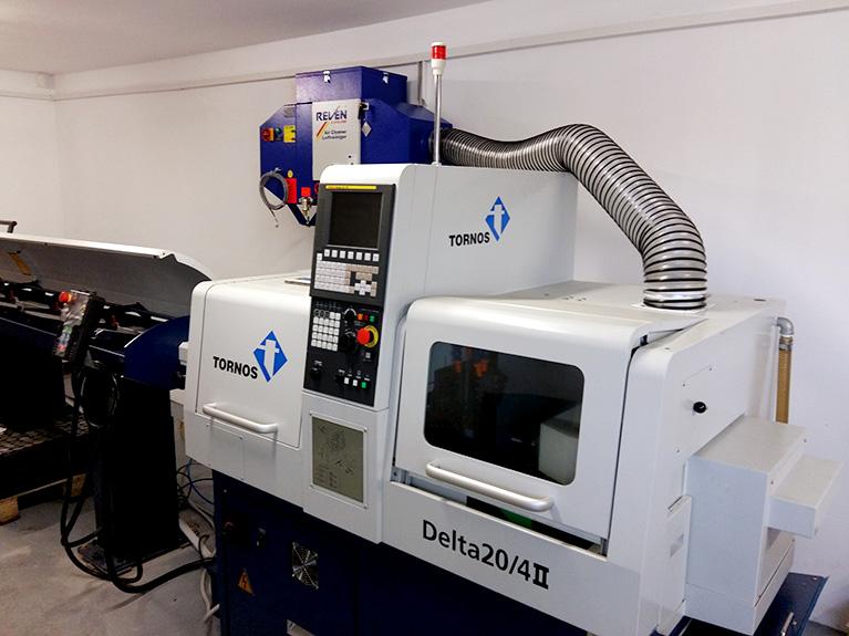 Filtrare vapori ulei strung CNC Tornos delta 20-4