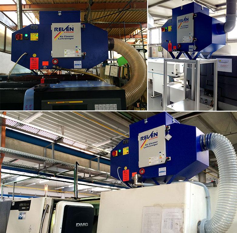 Strunguri CNC dotate cu echipamente filtrare vapori ulei
