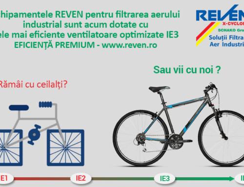 Filtrele de aer REVEN dotate cu ventilatoare de eficienta IE3