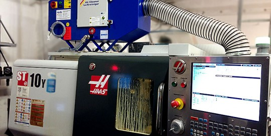 Filtrare vapori ulei strung CNC HAAS ST 10 Y