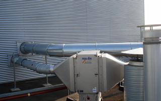 Modul filtrare ceata ulei, emulsii cu montaj in tubulatura de proces